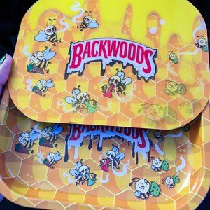 3D Backwoods Dabbing Honey Bees Rolling Tray